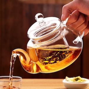 1000-мл-Цветок-Чайник-Кружки-Воды-Чайник-Чай-Чашка-Кофе-Кружки-Банку-Стеклянный-Фильтр-ЧАШКИ-Чая