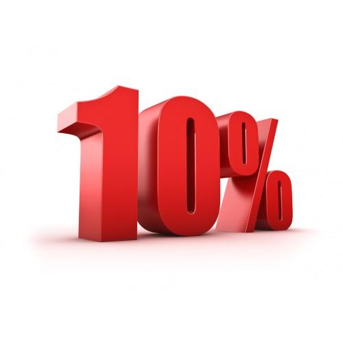10% скидка в выходные!